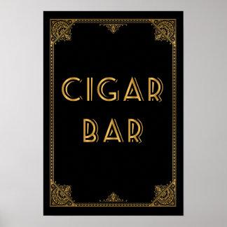 La barra Gatsby del CIGARRO inspiró la muestra del Póster
