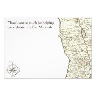 La barra Mitzvah de Benjamin del mapa de la antigü Anuncios