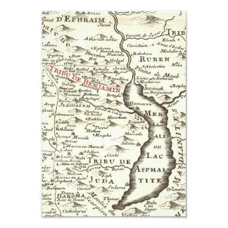 La barra Mitzvah de Benjamin del mapa de la Invitación 8,9 X 12,7 Cm