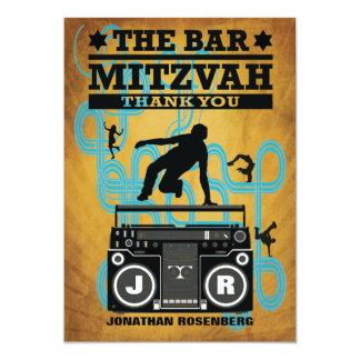 """La barra Mitzvah de Hip Hop le agradece cardar Invitación 5"""" X 7"""""""