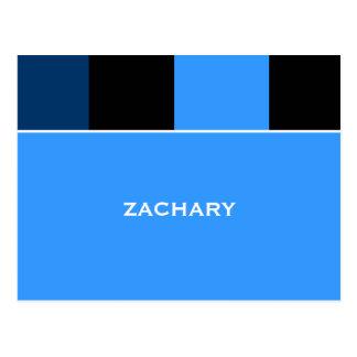 La barra Mitzvah del negro azul de Zacarias le agr Tarjeta Postal