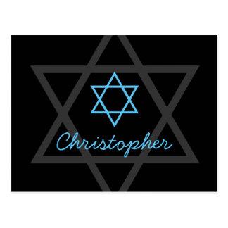 La barra negra y azul Mitzvah le agradece Tarjetas Postales