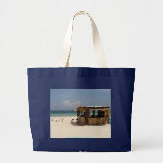 La barra perfecta de la playa bolsa tela grande
