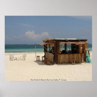 La barra perfecta de la playa posters