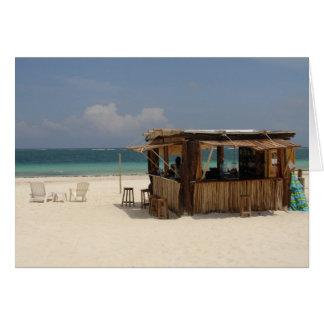 La barra perfecta de la playa tarjeta de felicitación