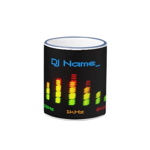 La barra personal EQ del equalizador de DJ - añada Taza De Café