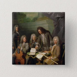 La Barre and Other Musicians, c.1710 Button