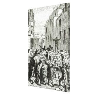 La barricada impresión en lona