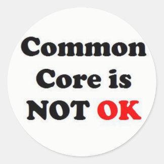 ¡La base común no es ACEPTABLE! Etiquetas Redondas