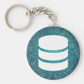 La base de datos abre el pictograma llavero redondo tipo pin