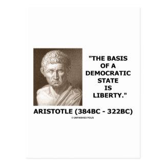 La base de un estado Democratic es cita de la Postal