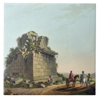 La base de una columna colosal cerca de Syracuse,  Azulejo Cuadrado Grande