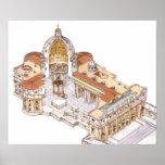 La basílica de San Pedro. Ciudad del Vaticano Póster