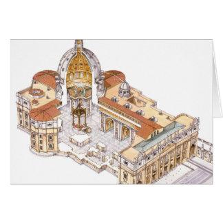 La basílica de San Pedro. Ciudad del Vaticano Tarjeta De Felicitación