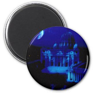 La basílica de San Pedro con la luna Imanes Para Frigoríficos