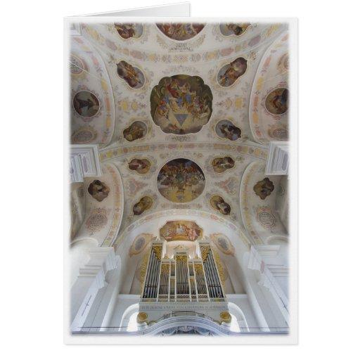 La basílica de San Pedro, Dillingen, Alemania Tarjeta De Felicitación