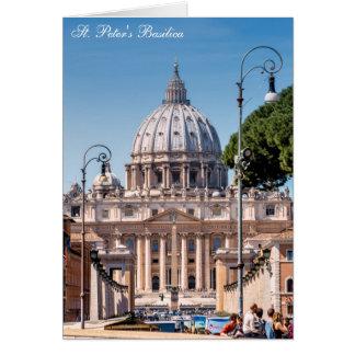 La basílica de San Pedro - Vatican Tarjeta De Felicitación