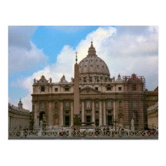 La basílica de San Pedro, Vatican Tarjeta Postal