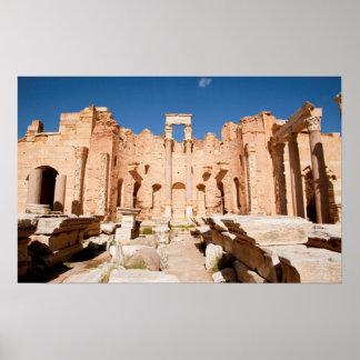 La basílica de Severan, Leptis Magna, Al Khums 2 Póster