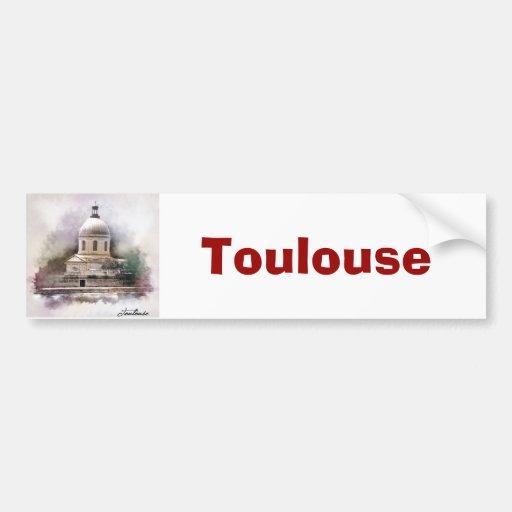 La Basílica Pez de San Pedro de Toulouse Etiqueta De Parachoque