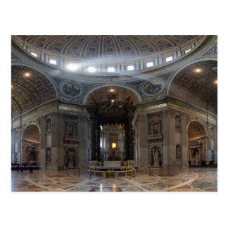 La basílica y el Baldacchino de San Pedro Postales
