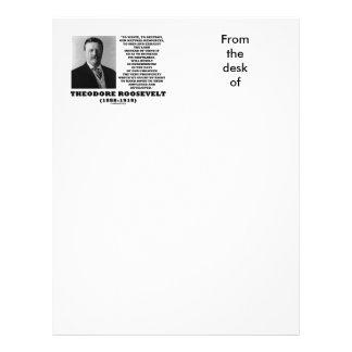 La basura de Theodore Roosevelt destruye recursos Membrete A Diseño