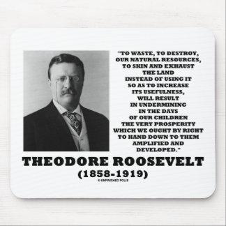 La basura de Theodore Roosevelt destruye recursos Tapetes De Ratón