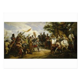 La Bataille de Bouvines by Horace Vernet Postcard