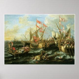 La batalla de Actium, el 2 de septiembre de 31 A.C Impresiones