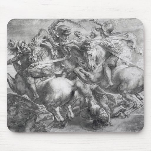 La batalla de Anghiari después de Leonardo da Vinc Alfombrillas De Ratón
