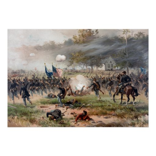 La batalla de Antietam -- Guerra civil Póster
