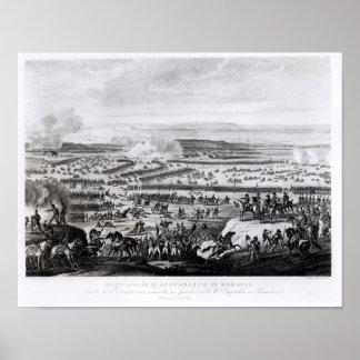 La batalla de Austerlitz en Moravia Póster