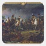 La batalla de Austerlitz Calcomanías Cuadradas Personalizadas