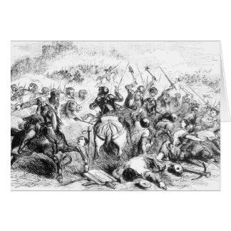 La batalla de Bannockburn en 1314 Tarjeta