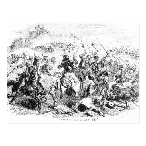 La batalla de Bannockburn en 1314 Tarjeta Postal