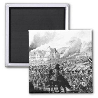 La batalla de Blenheim en 1704 Imán Cuadrado