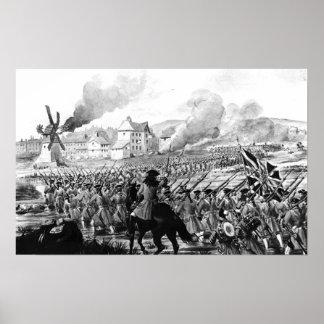 La batalla de Blenheim en 1704 Posters