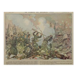 La batalla de Bourget, 1887 Postales