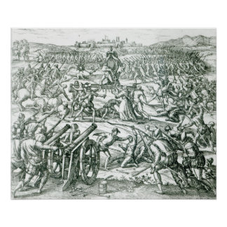 La batalla de Cajamarca, 1532 Posters