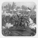 La batalla de Cedar Creek Calcomania Cuadradas