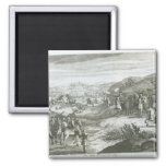 La batalla de Edgehill, el 23 de octubre de 1642 Imán Cuadrado