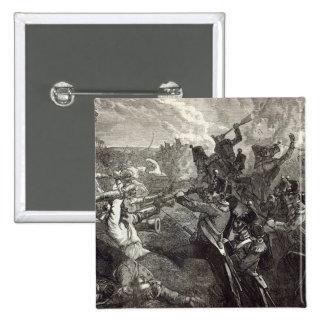 La batalla de Ferozeshah Pin Cuadrada 5 Cm