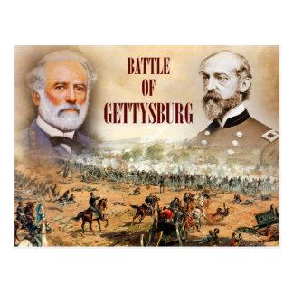 La batalla de Gettysburg con Lee y Meade Postal