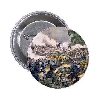 La batalla de Gettysburg, PA. 3 de julio D. 1863 Pin Redondo De 2 Pulgadas