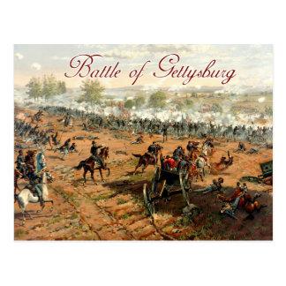 La batalla de Gettysburg Tarjetas Postales