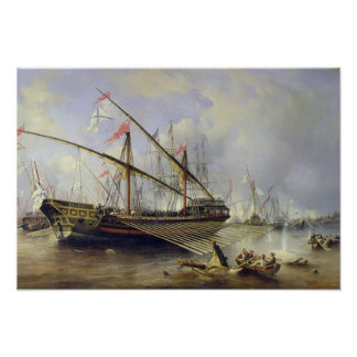 La batalla de Grengham el 27 de julio de 1720 Póster