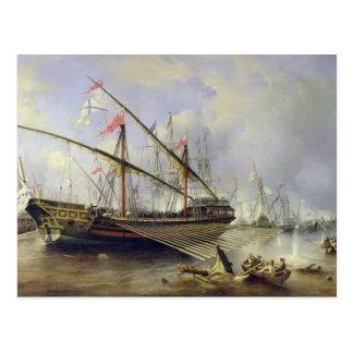 La batalla de Grengham el 27 de julio de 1720 Postal