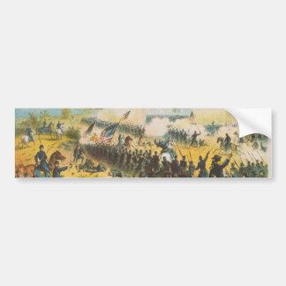 La batalla de guerra civil del aterrizaje de pegatina para auto