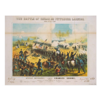 La batalla de guerra civil del aterrizaje de postales
