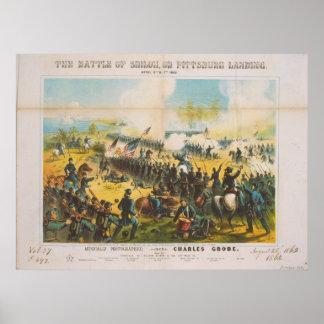 La batalla de guerra civil del aterrizaje de póster
